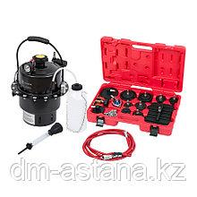 МАСТАК Набор приспособлений для замены тормозной жидкости, 6 л, комплект крышек адаптеров, 17 пр. МАСТАК