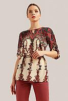 Блузка женская Finn Flare, цвет черный, размер 4XL