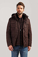 Куртка мужская Finn Flare, цвет темно-коричневый, размер 5XL