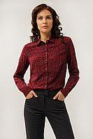Блузка женская Finn Flare, цвет вишневый, размер XS