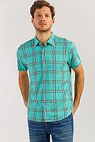 Рубашка мужская Finn Flare, цвет зеленый, размер 2XL