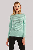Джемпер женский Finn Flare, цвет светло-зеленый, размер L