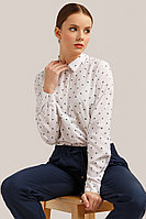 Блузка женская Finn Flare, цвет белый, размер 2XL