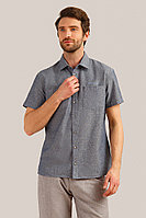 Рубашка мужская Finn Flare, цвет темно-синий, размер 2XL