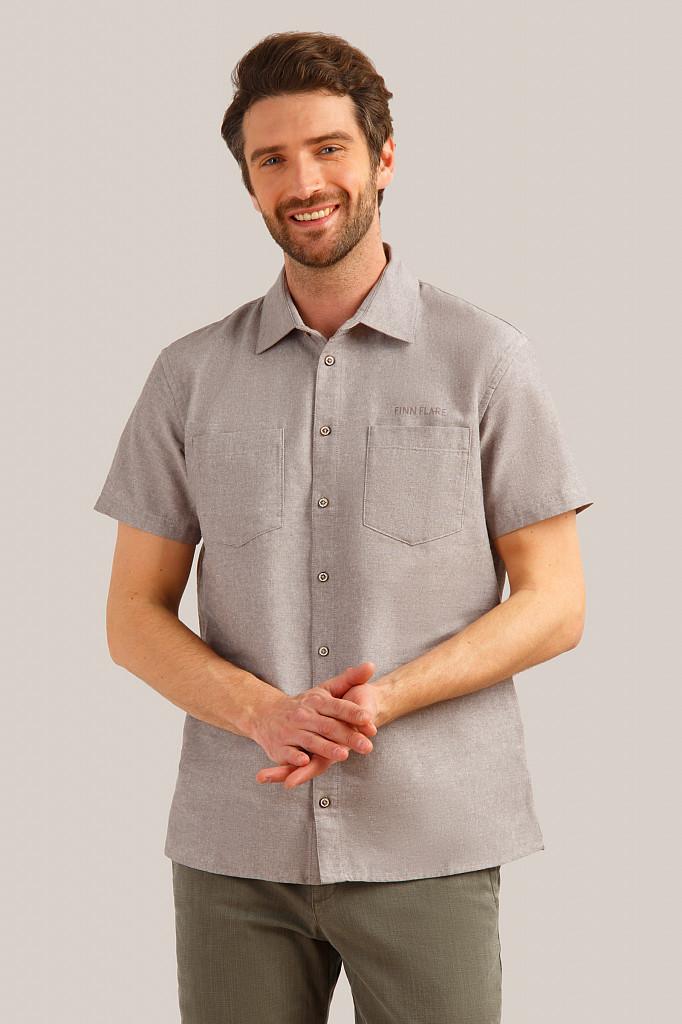 Рубашка мужская Finn Flare, цвет темно-коричневый, размер 5XL - фото 1