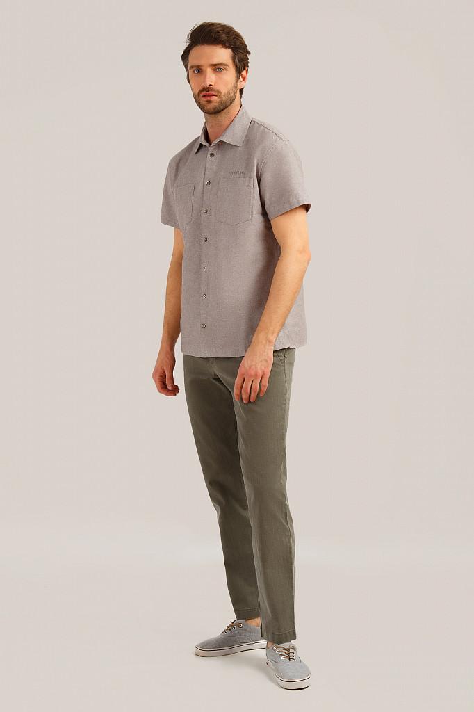 Рубашка мужская Finn Flare, цвет темно-коричневый, размер 5XL - фото 2