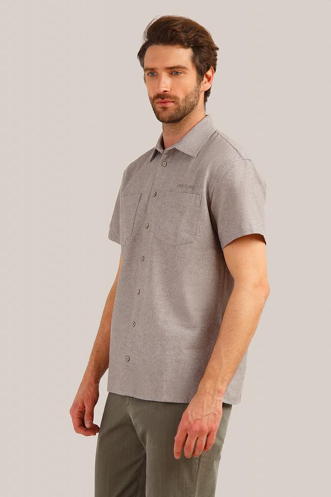 Рубашка мужская Finn Flare, цвет темно-коричневый, размер 5XL - фото 3