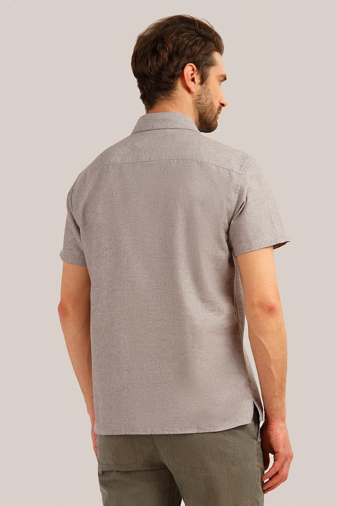 Рубашка мужская Finn Flare, цвет темно-коричневый, размер 5XL - фото 4