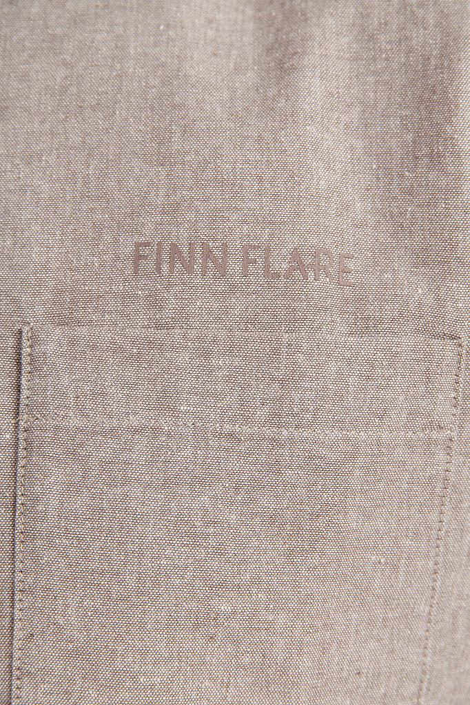 Рубашка мужская Finn Flare, цвет темно-коричневый, размер 5XL - фото 5