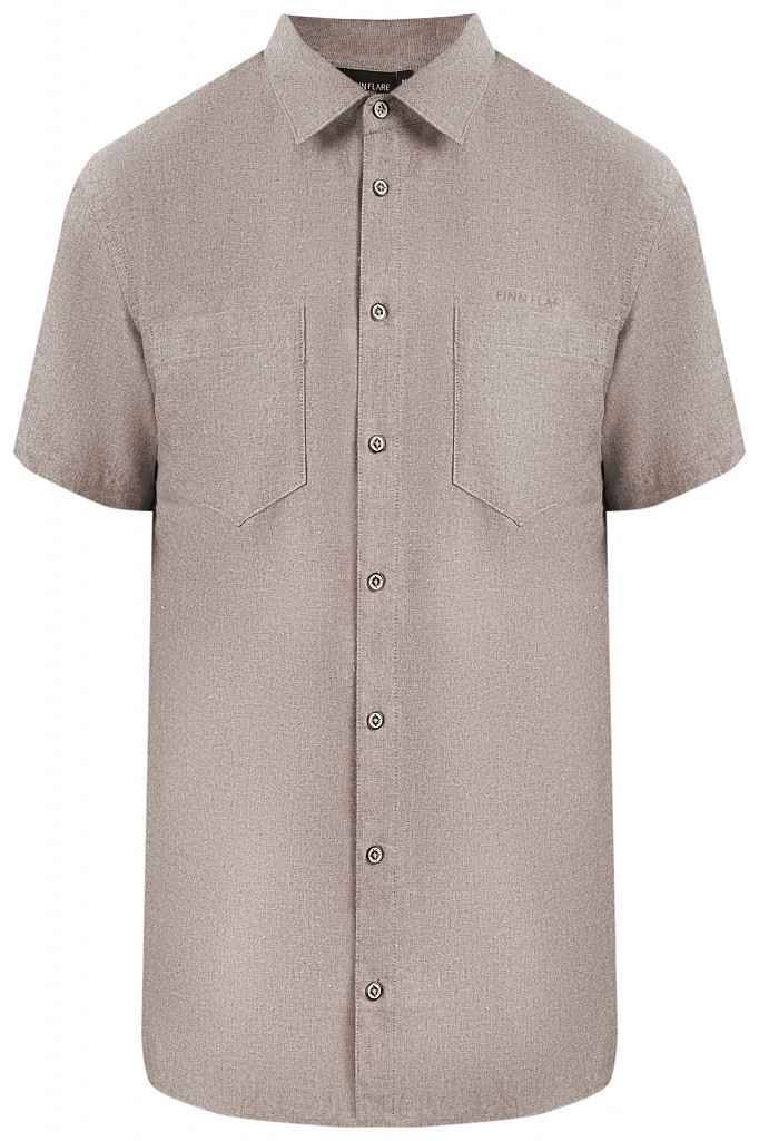 Рубашка мужская Finn Flare, цвет темно-коричневый, размер 5XL - фото 6