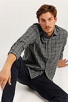 Рубашка мужская Finn Flare, цвет серый, размер 4XL