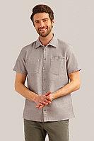 Рубашка мужская Finn Flare, цвет темно-коричневый, размер 3XL