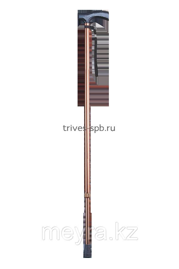 Трость телескопическая с Т-образной ручкой и ремешком