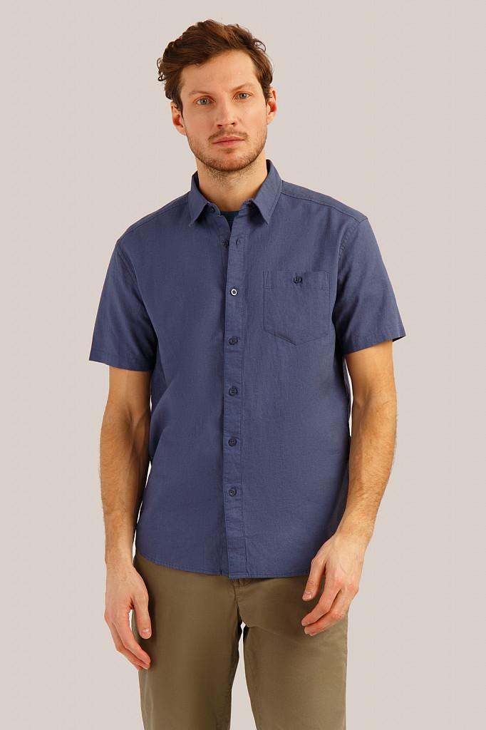 Рубашка мужская Finn Flare, цвет серо-голубой, размер 3XL - фото 1
