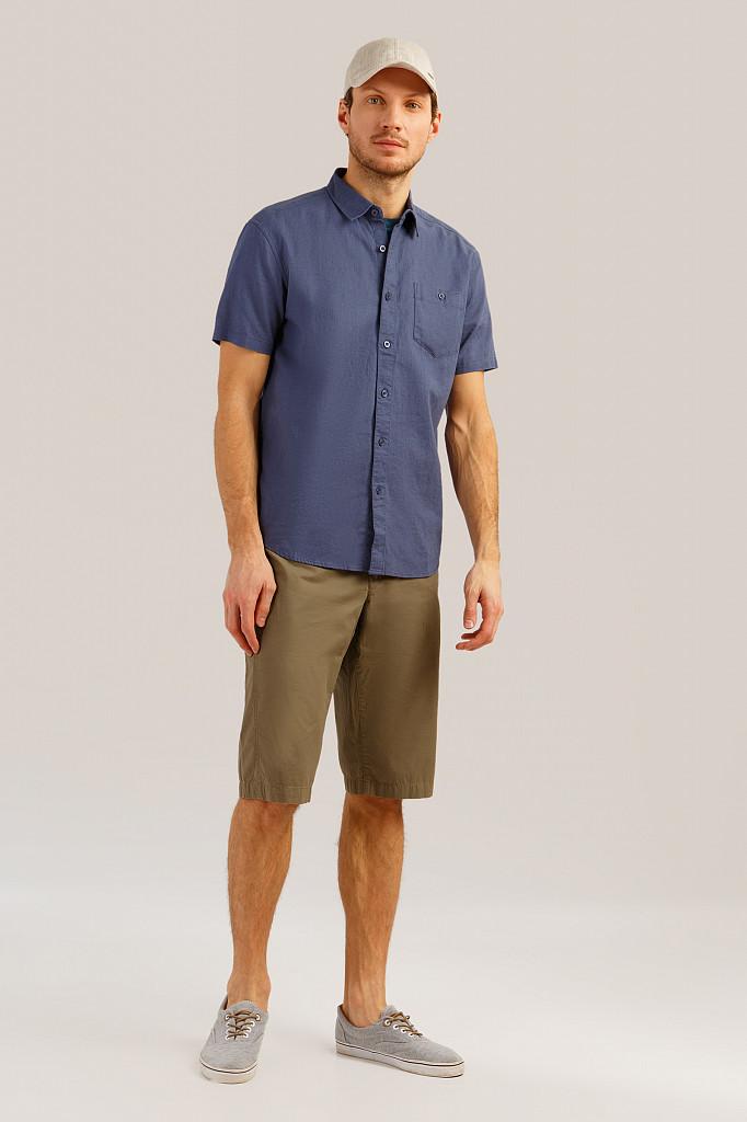 Рубашка мужская Finn Flare, цвет серо-голубой, размер 3XL - фото 2