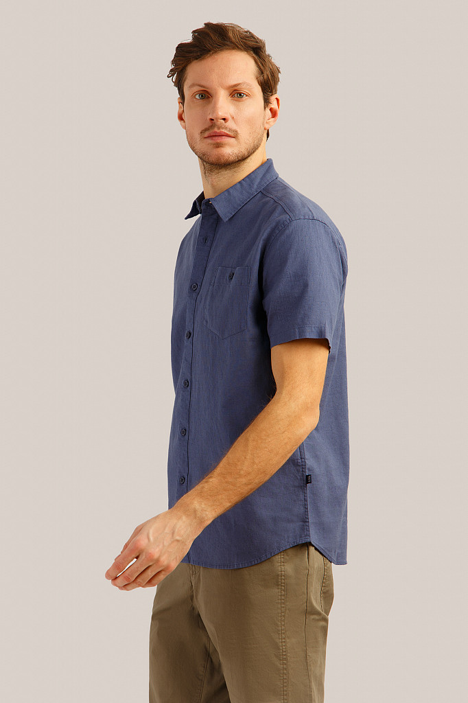 Рубашка мужская Finn Flare, цвет серо-голубой, размер 3XL - фото 3