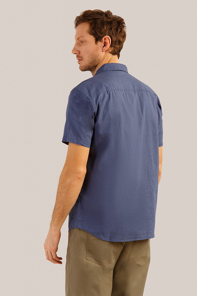 Рубашка мужская Finn Flare, цвет серо-голубой, размер 3XL - фото 4