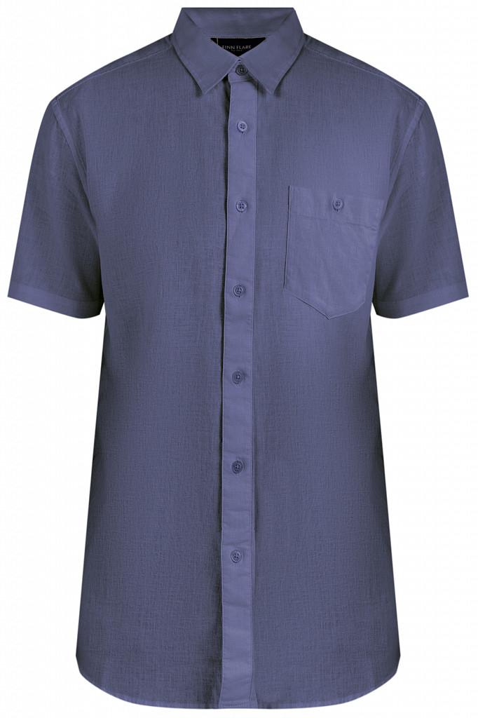 Рубашка мужская Finn Flare, цвет серо-голубой, размер 3XL - фото 6