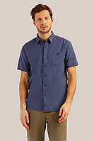 Рубашка мужская Finn Flare, цвет серо-голубой, размер 4XL
