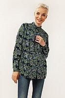 Блузка женская Finn Flare, цвет темно-синий, размер XS