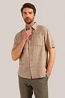 Рубашка мужская Finn Flare, цвет светло-коричневый, размер 3XL