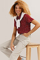 Блузка женская Finn Flare, цвет бордовый, размер XS