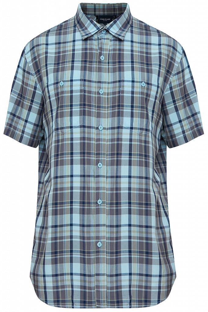 Рубашка мужская Finn Flare, цвет светло-голубой, размер XL - фото 6