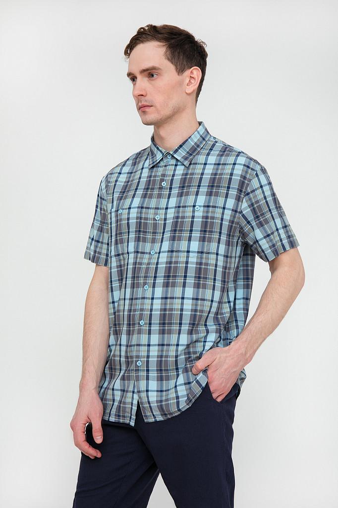 Рубашка мужская Finn Flare, цвет светло-голубой, размер 3XL - фото 3