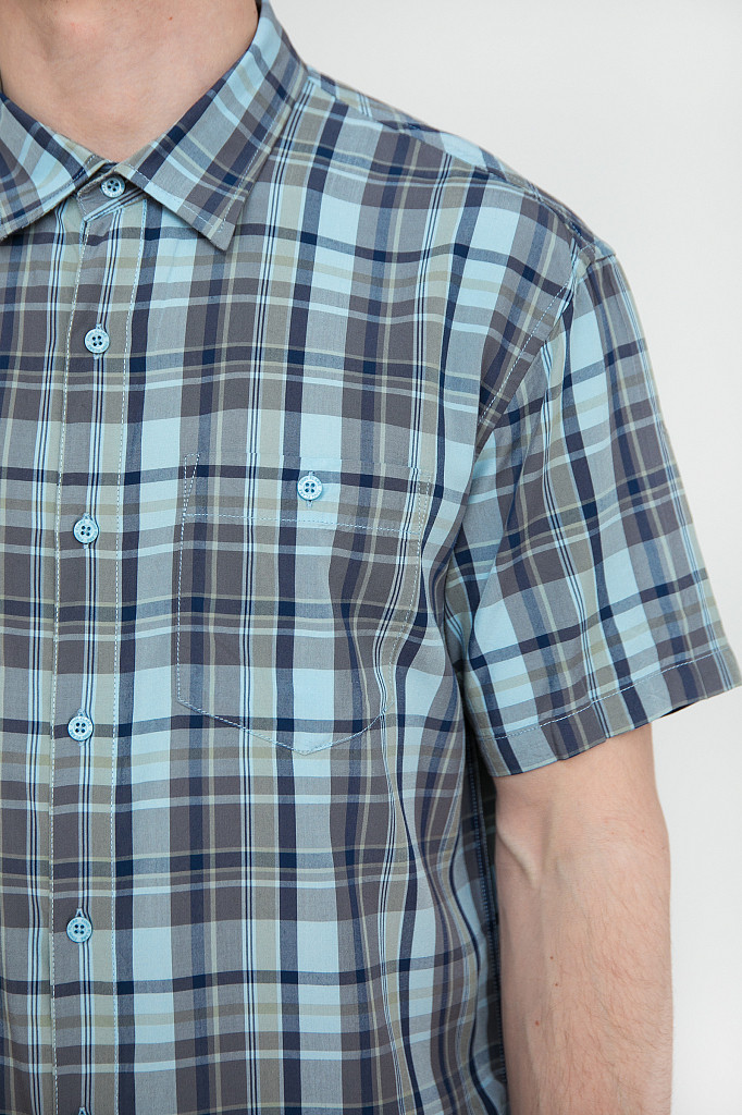 Рубашка мужская Finn Flare, цвет светло-голубой, размер 3XL - фото 5