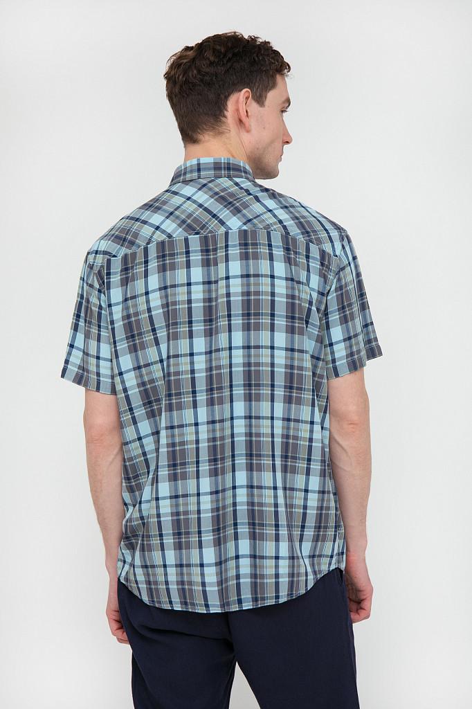 Рубашка мужская Finn Flare, цвет светло-голубой, размер L - фото 4