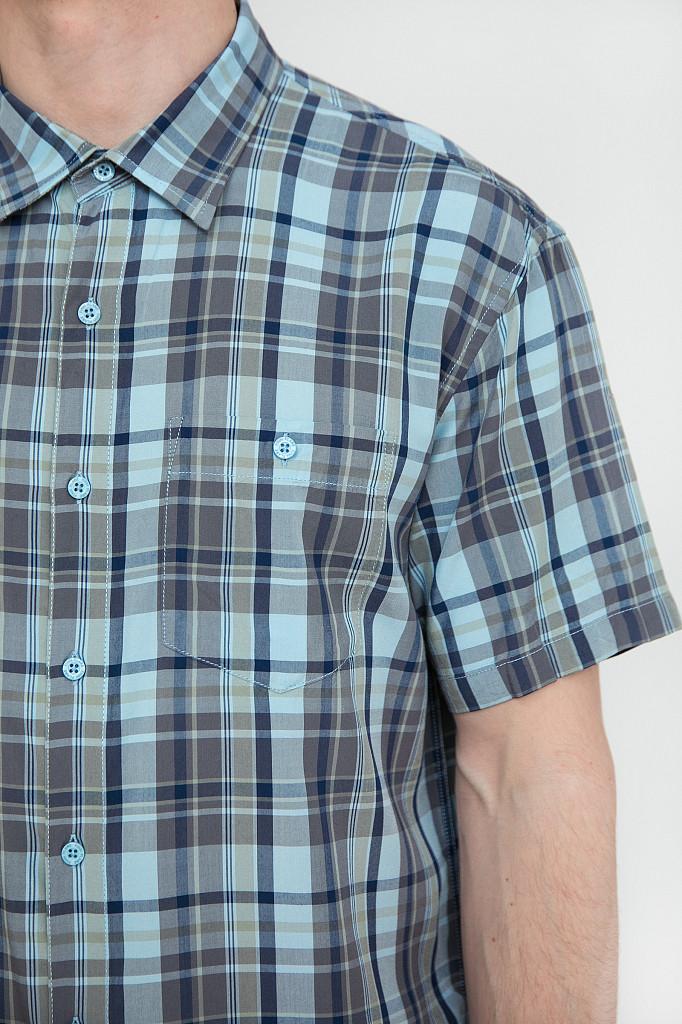 Рубашка мужская Finn Flare, цвет светло-голубой, размер L - фото 5
