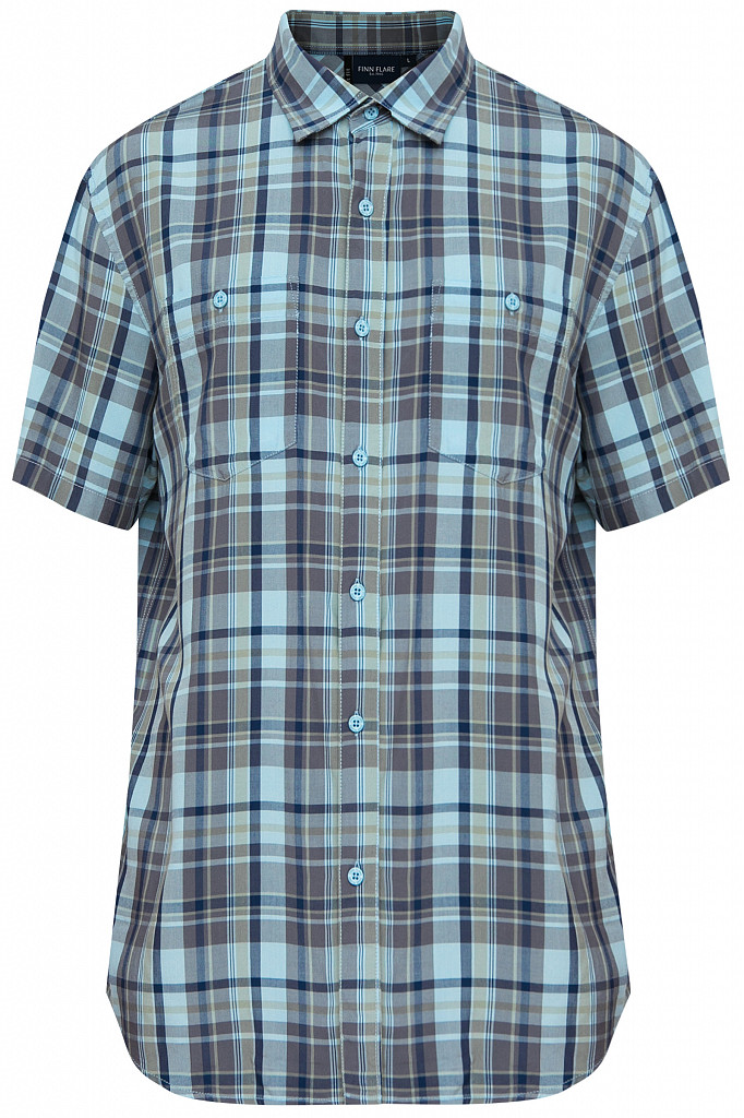 Рубашка мужская Finn Flare, цвет светло-голубой, размер L - фото 6
