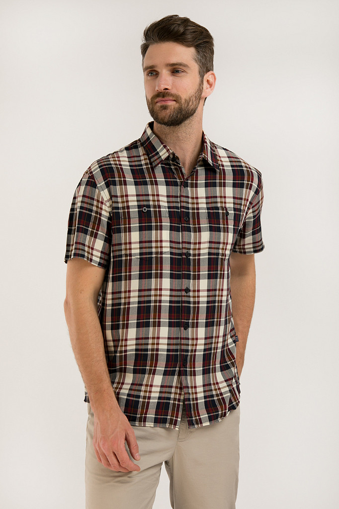 Рубашка мужская Finn Flare, цвет темно-синий, размер 3XL - фото 1