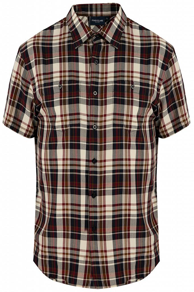 Рубашка мужская Finn Flare, цвет темно-синий, размер 3XL - фото 6