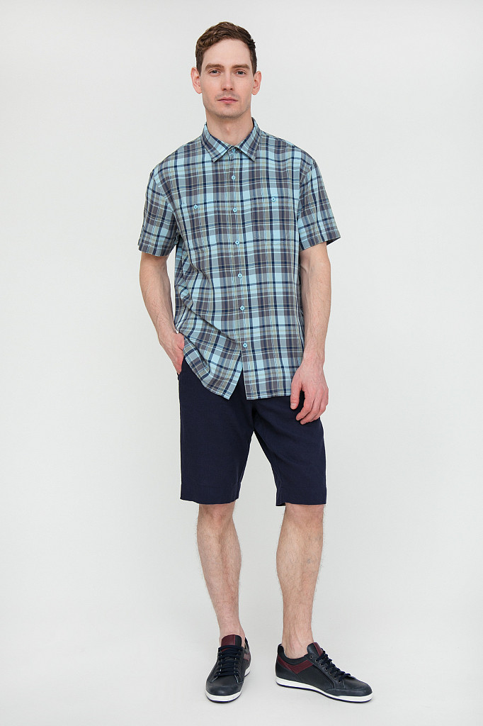 Рубашка мужская Finn Flare, цвет светло-голубой, размер 5XL - фото 1