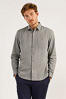 Рубашка мужская Finn Flare, цвет темно-серый, размер 2XL