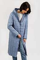 Пальто женское Finn Flare, цвет голубой, размер S