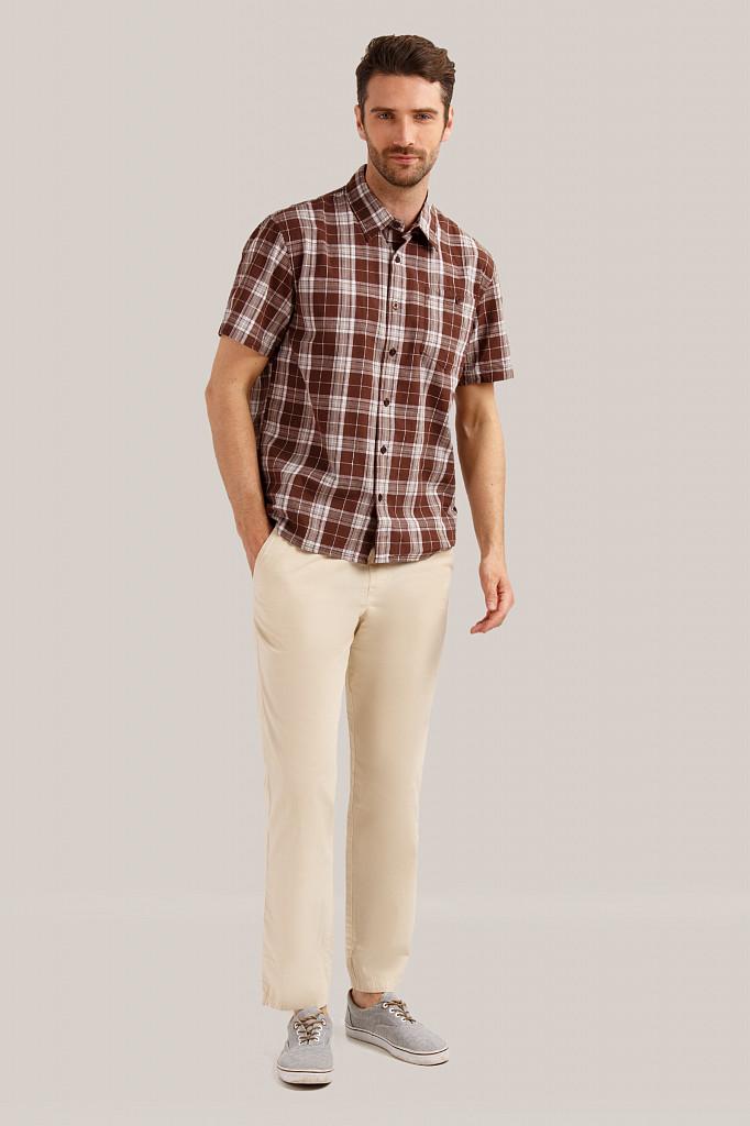 Рубашка мужская Finn Flare, цвет темно-коричневый, размер S - фото 2