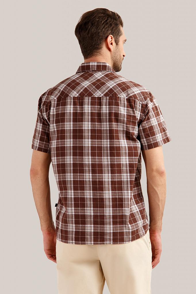 Рубашка мужская Finn Flare, цвет темно-коричневый, размер S - фото 4