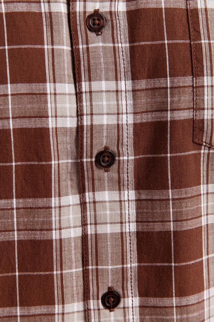 Рубашка мужская Finn Flare, цвет темно-коричневый, размер S - фото 5
