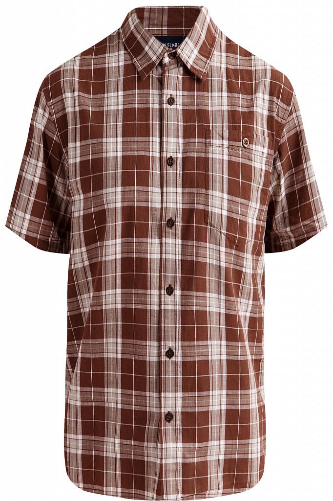 Рубашка мужская Finn Flare, цвет темно-коричневый, размер S - фото 6