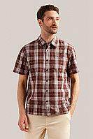 Рубашка мужская Finn Flare, цвет темно-коричневый, размер L