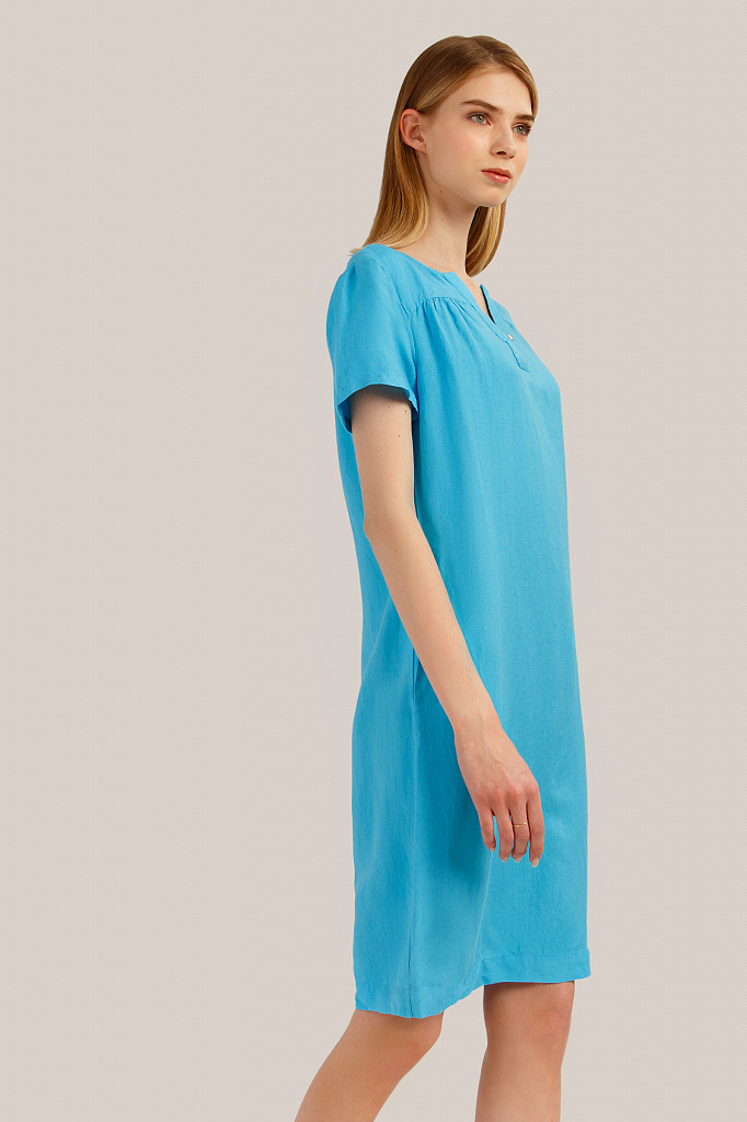 Платье женское Finn Flare, цвет бирюзовый, размер L - фото 3