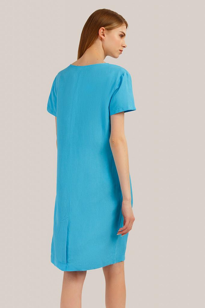 Платье женское Finn Flare, цвет бирюзовый, размер L - фото 4
