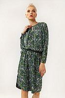 Платье женское Finn Flare, цвет зеленый, размер XS
