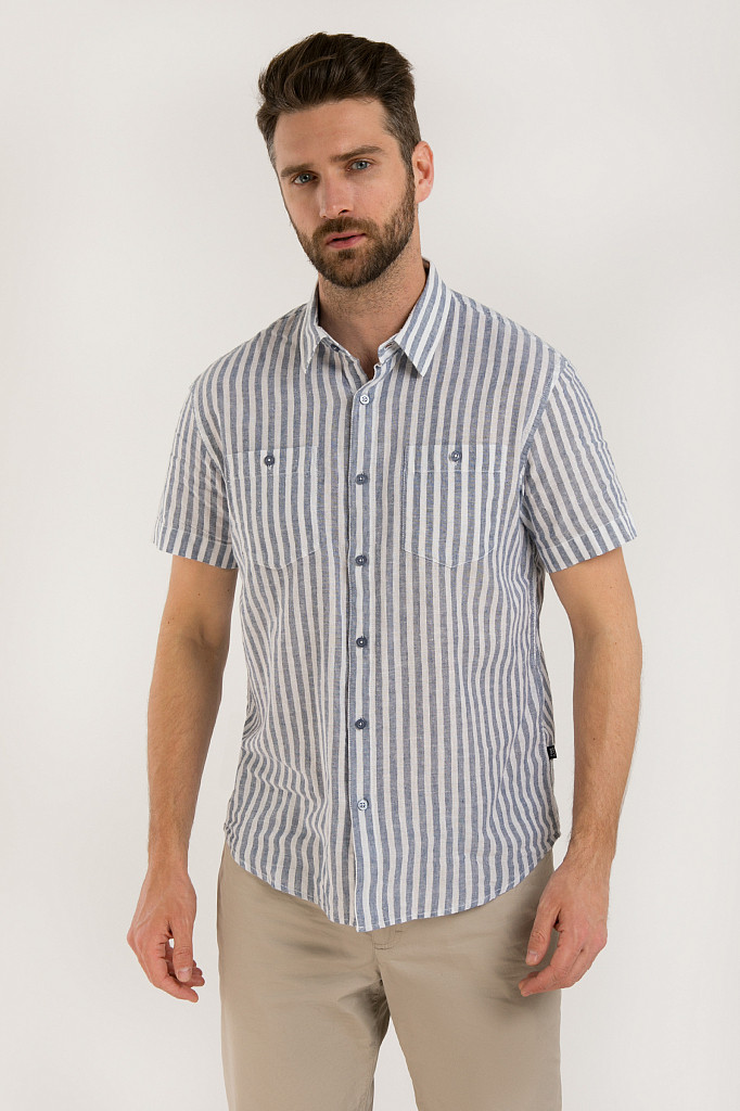 Рубашка мужская Finn Flare, цвет голубой, размер 3XL - фото 1