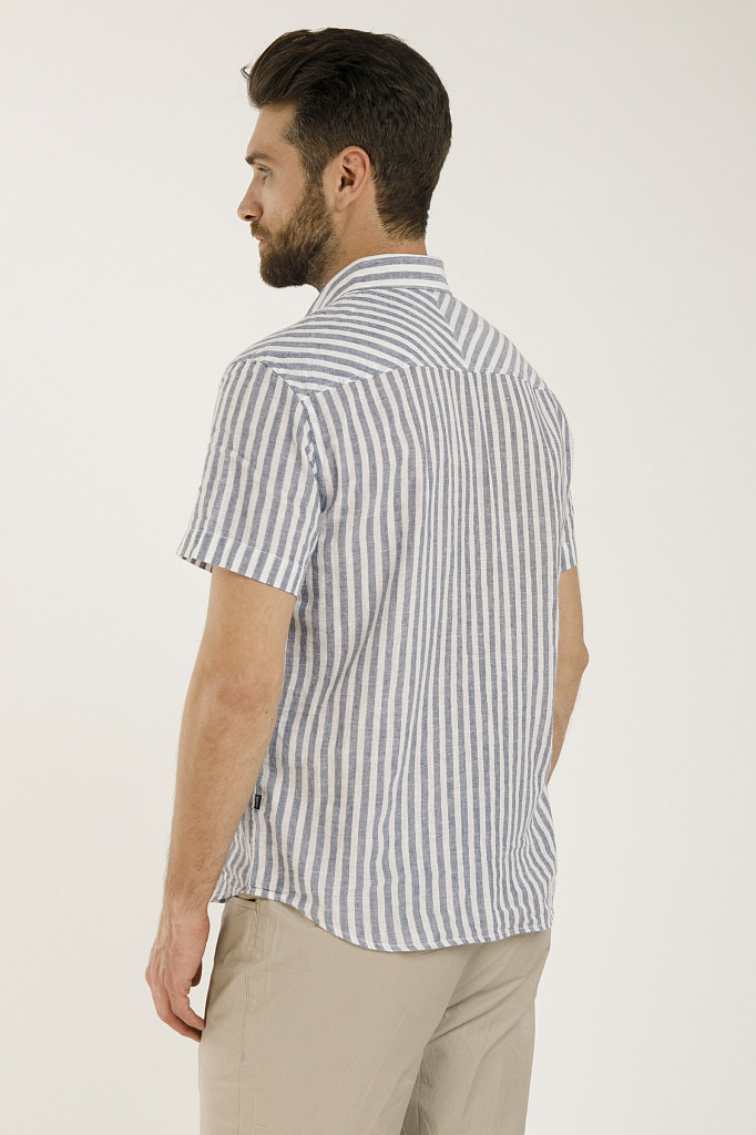 Рубашка мужская Finn Flare, цвет голубой, размер 3XL - фото 4