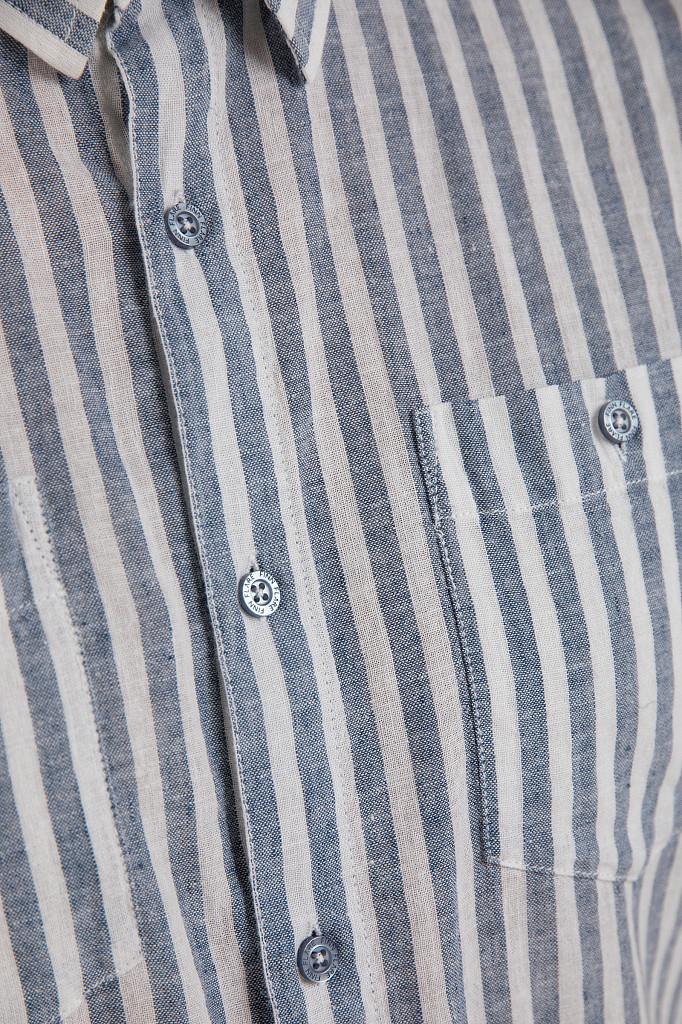 Рубашка мужская Finn Flare, цвет голубой, размер 3XL - фото 5