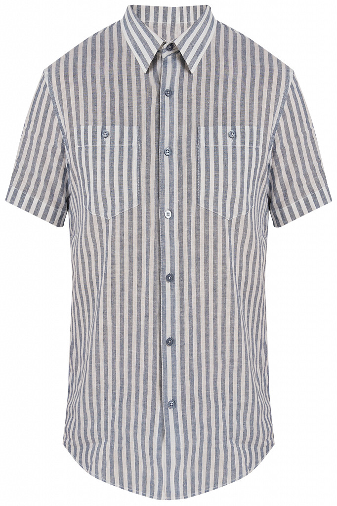 Рубашка мужская Finn Flare, цвет голубой, размер 3XL - фото 6