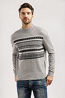 Джемпер мужской Finn Flare, цвет светло-серый, размер 2XL